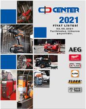 CENTER AEG-RYOBİ-MİLWAUKEE-FLORA-ALFRA 2021 FİYAT LİSTESİ